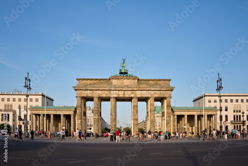 canvas print picture Brandenburg gate, Berlin, Germany