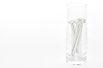 nails in a glass