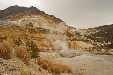 塚原温泉の噴煙