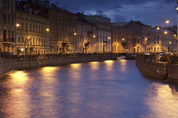 Evening St. Petersburg, Russia