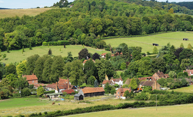 An English Rural Hamlet in Oxfordshire
