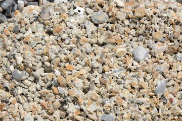 Eroded concrete on beach