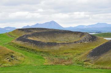 Исландия, псевдо кратеры вулканов