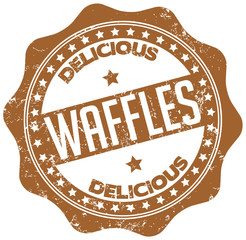 delicious waffles stamp