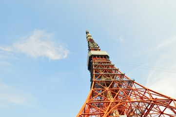 The red Tokyo Tower, Japan