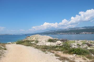 Spiaggia sull'isola di Krk