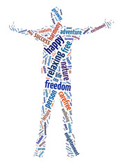 Words illustration of the concept of freedom
