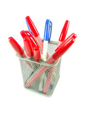 Red and Blue magic color pens