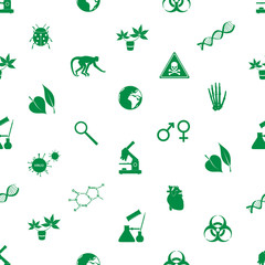 biology icons seamless pattern eps10