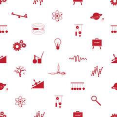 physics icons seamless pattern eps10