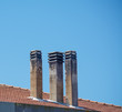 canvas print picture - chimneys