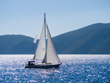 Fototapeta Sailing yacht in Lefkada Greece