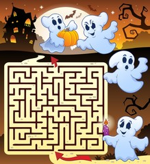 Maze 3 with Halloween thematics