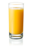 Fototapety Full glass of orange juice on white background. With clipping pa