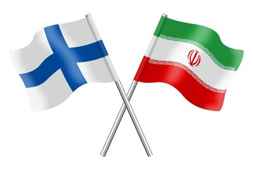 Flags: Finland and Iran