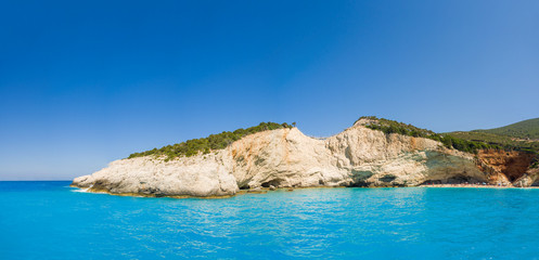 Porto Katsiki beach at Lefkada island
