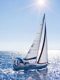 Jacht żaglowy w Lefkas w Grecji