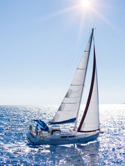 Sailing yacht in Lefkada Greece