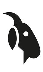 Ziege Kopf Profil