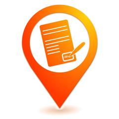 signature sur symbole localisation orange
