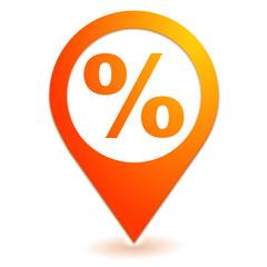 soldes promotion sur symbole localisation orange