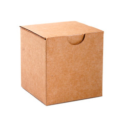 blank cardboard box isolated on white