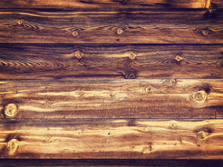 Old Wood Background with Twigs  - Vintage Yellow Tones