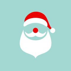 Abstract Christmas Card Santa Retro