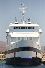 Ferry at Kissamos port in Crete. Greece