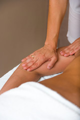 woman receiving professional massage.