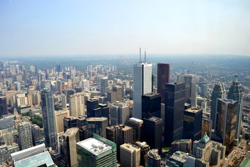 Aerial view of Toronto skyscrapers