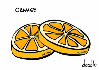 doodle orange slice