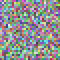 Multicolor pixel mosaic background