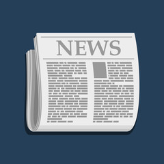Newspaper Icon, Business News. Vector