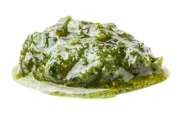 Pesto Genovese isolated on white