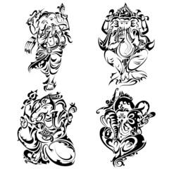 Tattoo style Lord Ganesha