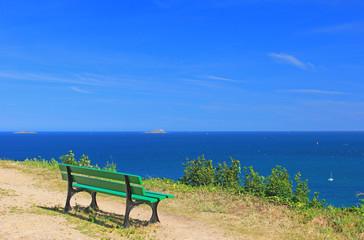 Aussichtspunkt am Ärmelkanal, Frankreich