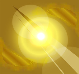 Gold background with a burst light