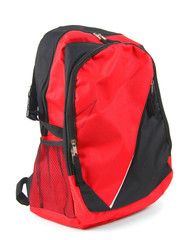 School backpack. On white background.
