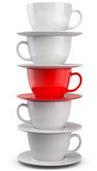 Kaffetassen rote Tasse