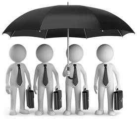 Teamwork unterm Regenschrim