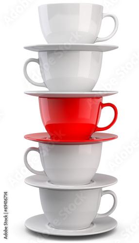 Kaffetassen rote Tasse - 69416714