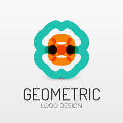 Abstract geometric shape company logo