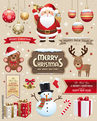 Christmas and new year elements - 69417505