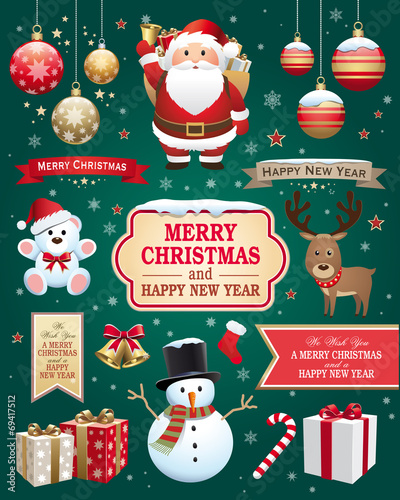 Christmas and new year elements - 69417512