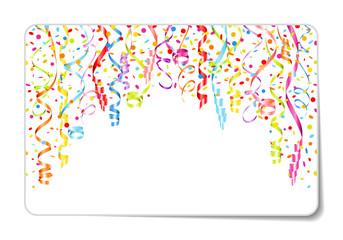 Gift Card Streamer & Confetti Color