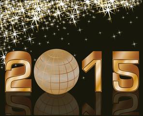 2015 Happy new year postcard , vector illustration