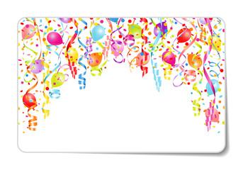 Gift Card Streamer, Confetti & Ballon Color
