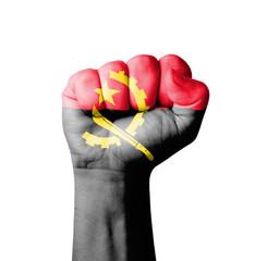 Fist of Angola flag painted