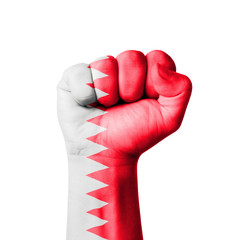 Fist of Bahrain, flag painted
